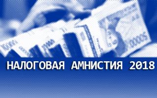Списание долгов по налогам и страховым взносам (налоговая амнистия 2018)